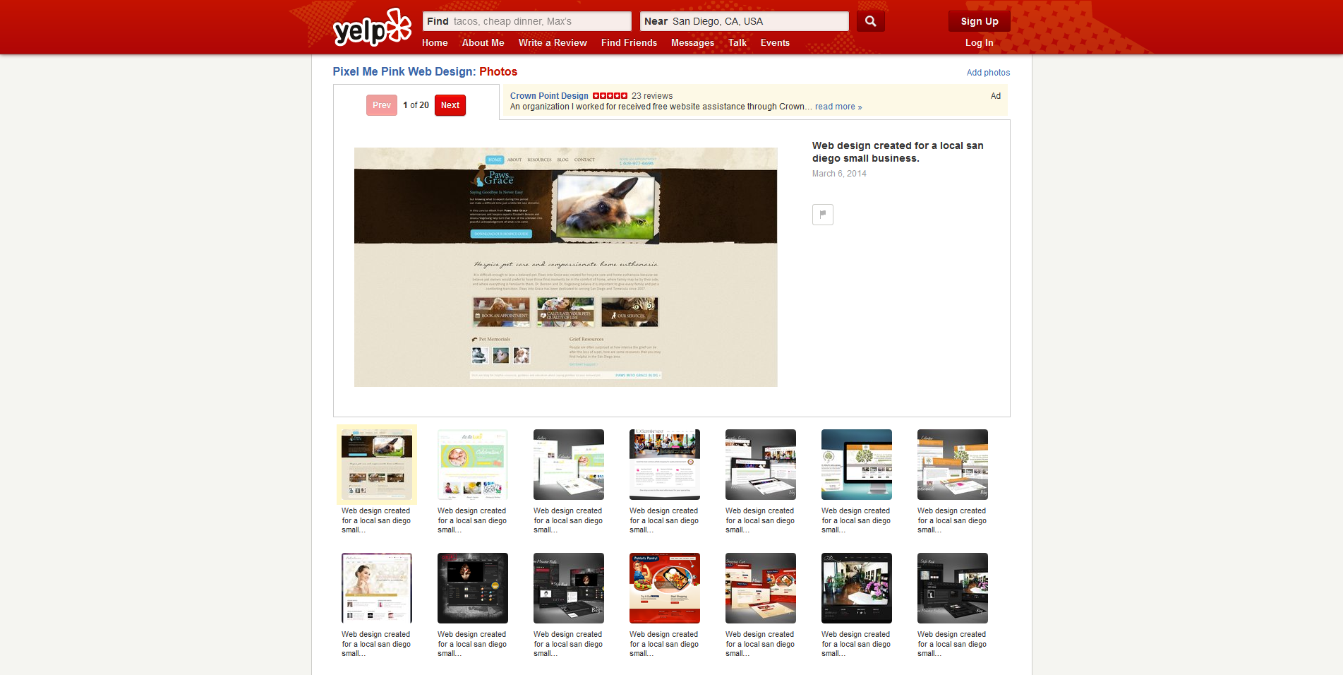 Web design created for a local san diego small business. - Yelp 2014-10-01 22-05-04